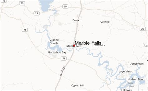 texas waterfalls map marble falls location guide