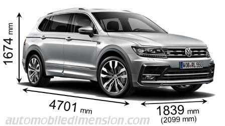 volkswagen tiguan allspace 2018 dimensions, boot space and