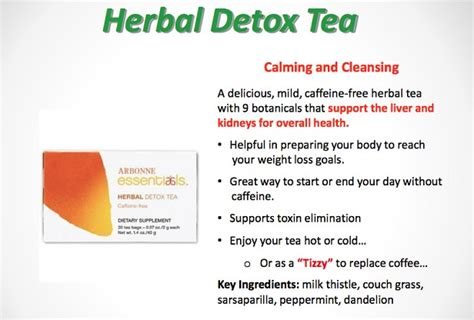 Arbonne Detox Tea by Products To Keep You Fit