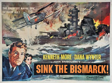 sink the bismarck fiskens sink the bismarck poster 1960
