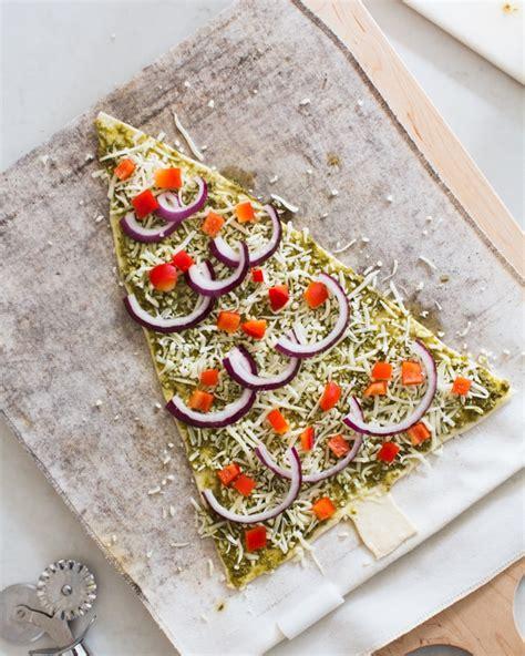 pesto christmas tree pizzas a couple cooks