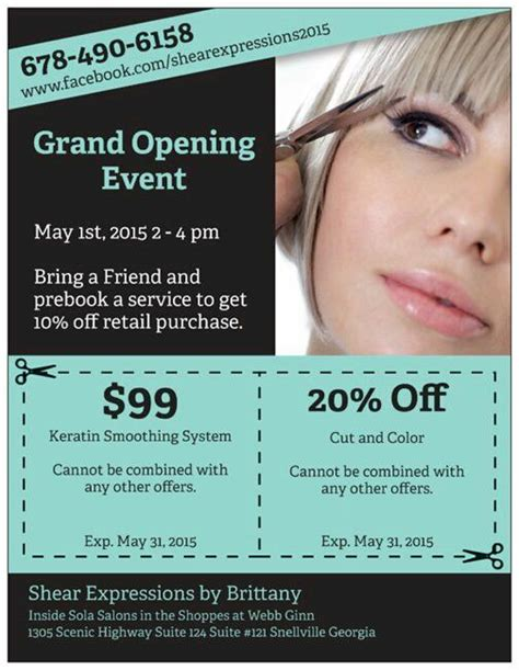 are you opening a new salon or giving your salon design a new salon now open grand opening this weekend