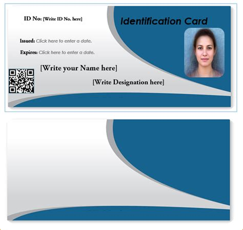 Id Card Template Word Doc by Id Card Template Word Student Id Card Template