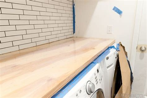 diy wood waterfall countertop 90 diy plywood waterfall countertop vintage revivals