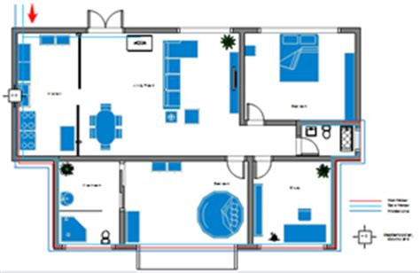 Floor Plan With Plumbing Layout by Plumbing And Piping Plan Floor Plan Solutions