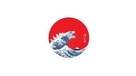 japan  great wave  kanagawa waves minimalism