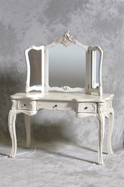 Shabby Chic Dining Room Table by Cream Large Dressing Table Set