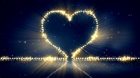heart shape christmas lights loop background motion