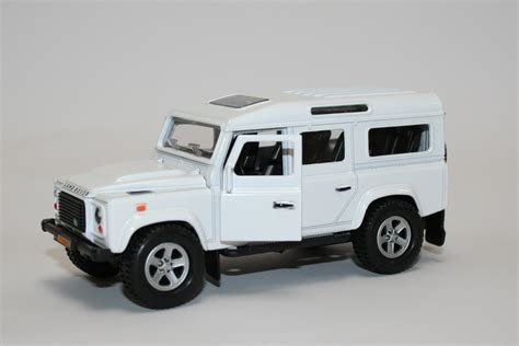 land rover defender white white land rover defender die cast model kids globe
