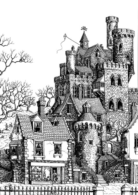 coloring pages for adults architecture architecture castle architecture and living coloring
