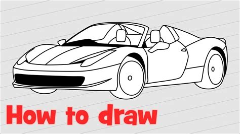 ferrari 458 sketch how to draw a car ferrari 458 spider youtube