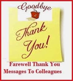 thank you messages farewell