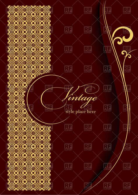 invitation card background design vector free download elegant gold ornament on burgundy background template