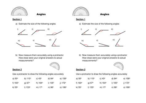 Drawing Angles Worksheet Tes