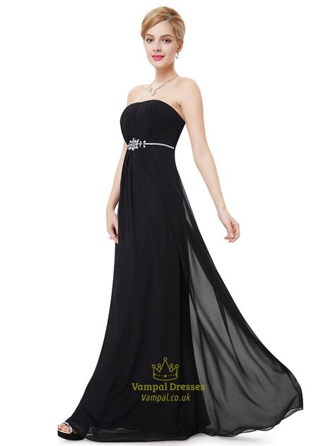 beaded bridesmaid dresses uk black strapless ruched bodice bridesmaid dress with beaded