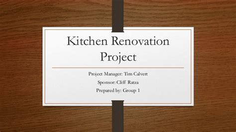 kitchen renovation project
