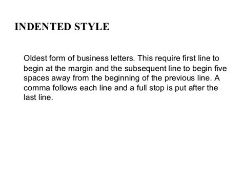 Hanging Indented Style Business Letter Exles styles of business letters