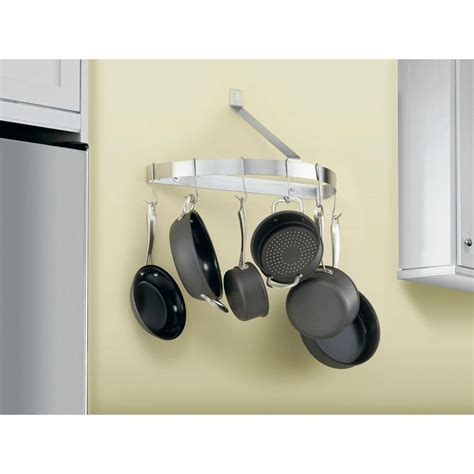 Cuisinart Pot Rack Cuisinart Half Circle Wall Pot Rack In Brushed Stainless