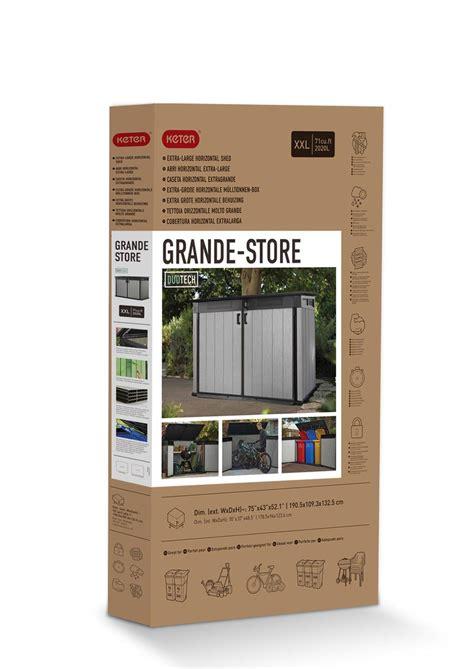 keter store   grande outdoor plastic garden storage