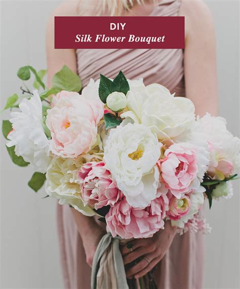 Diy Wedding Bouquets With Flowers by Diy Silk Flower Bouquet With Afloral Green Wedding Shoes