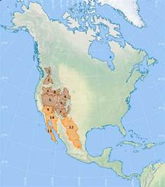 united states map showing deserts list of american deserts