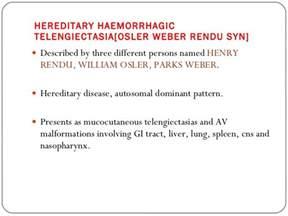 Rendu Osler Weber Report And Literature Review by A Of Osler Rendu Weber