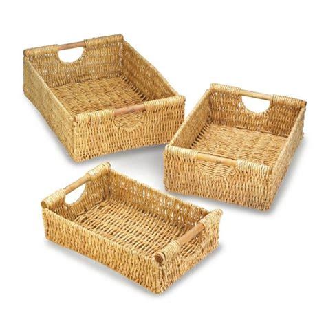 basket home decor wholesale maize nesting basket set baskets home