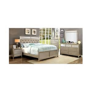 silver bedroom furniture cm7101 furniture of america bedroom set briella silver finish