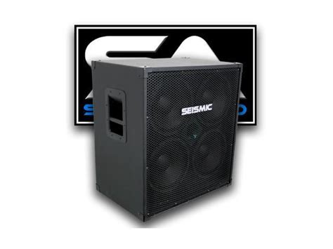 seismic audio 4x10 bass guitar speaker cabinet four 10