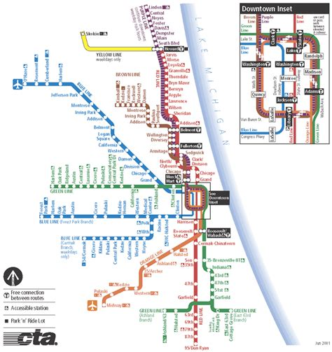 chicago map cta map of chicago chicago maps mapsof net