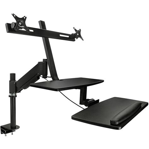 sit stand desk mount mount it mi 7902 sit stand desk mount for dual monitors