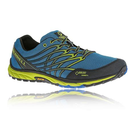 water proof running shoes merrell bare access mens blue tex waterproof trail