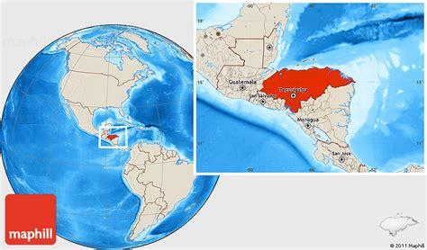 honduras location on world map shaded relief location map of honduras