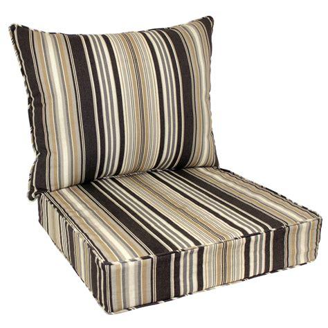 Black Patio Chair Cushions Shop Allen Roth 48 In L X 25 In W Black Patio Chair Cushion At Lowes