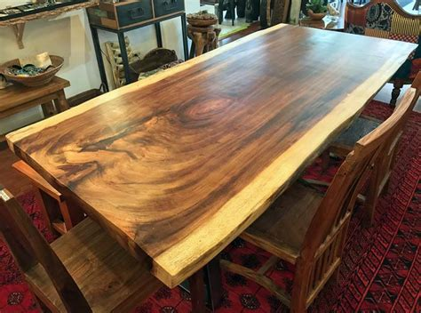 natural live edge wood slab dining tableimpact imports