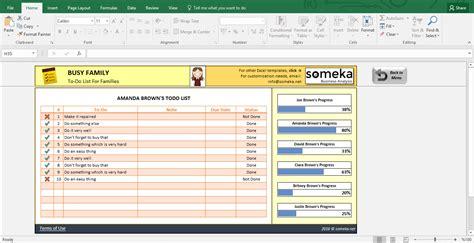 Family To Do List Printable Checklist Template In Excel Family To Do List Template