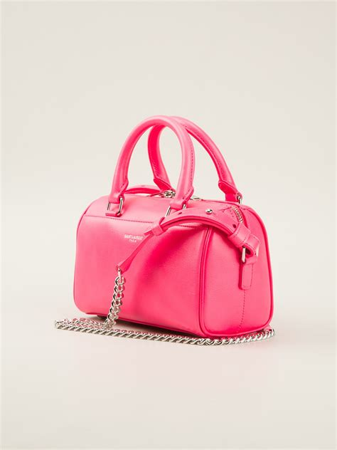 St Flowina Pink T3010 1 lyst laurent baby duffle shoulder bag in pink