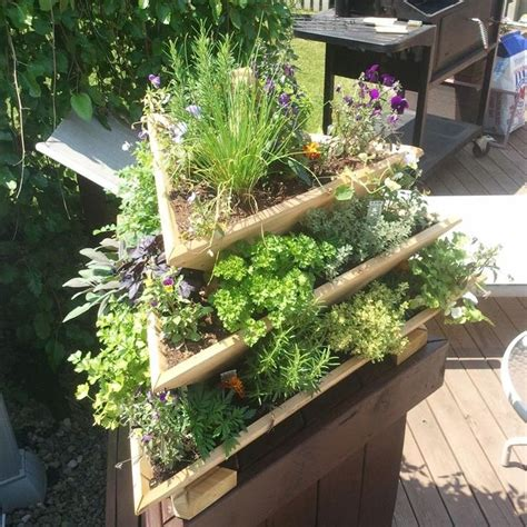herb garden planters nice for a my small city backyard terri terri quite