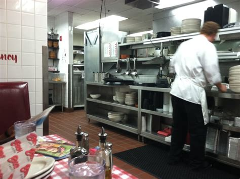 buca di beppo kitchen table table view in the kitchen yelp