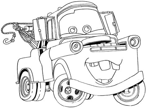 Mater Coloring Pages Free how to draw tow mater from disney cars how to draw