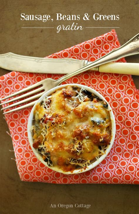 E Book Sausage Recipes For And Cooking With Sausage sausage bean and greens gratin recipe