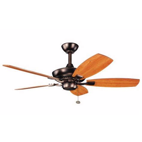 44 inch ceiling fan with light kichler 44 inch ceiling fan with five blades 300107obb