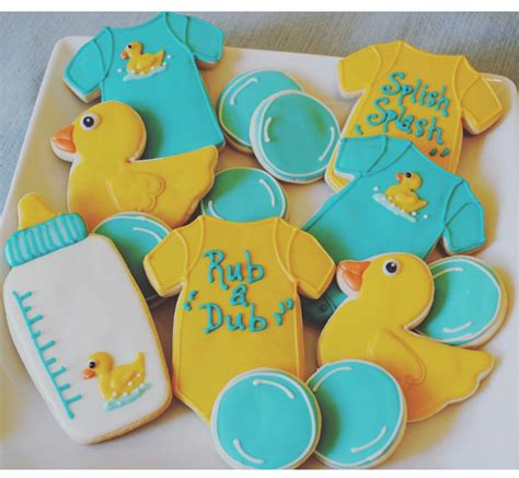 Rubber Duckie Baby Shower Cake by Rubber Ducky Baby Shower Cookies Pinteres