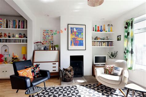 Small Colorful Living Room by Small Fireplace In The Living Room Colorful Interior