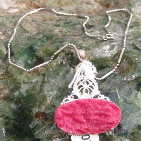 Liontin Ruby Silver 925 jual kalung silver dengan liontin batu ruby druzy 22 30 carat