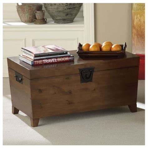 Danville Trunk Coffee Table With Lift Top Modern Modern Trunk Coffee Table
