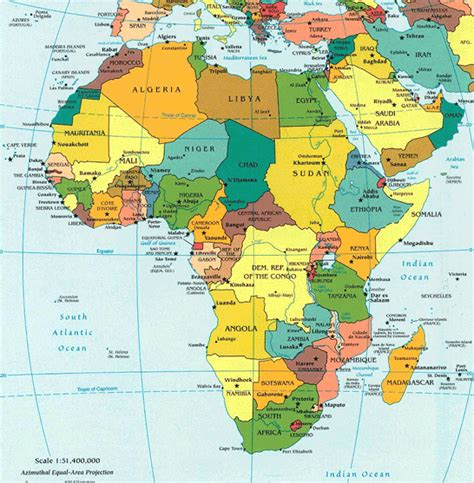 africa map of countries map of africa with countries and capital cities