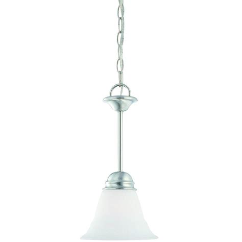 Brushed Nickel Glass Pendant Light Lighting 1 Light Brushed Nickel Mini Pendant