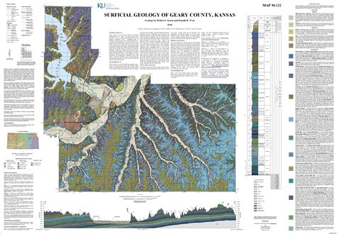 kgs geologic map geary large size