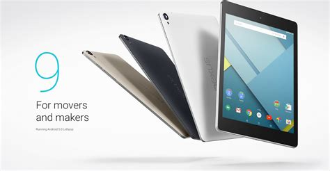 Hp Htc Nexus 9 announces 8 9 inch htc made nexus 9 tablet